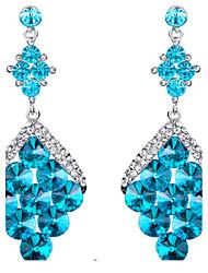 ieftine -Dame Cercei Picătură Safir Cristal Bijuterii Pentru Nuntă Petrecere Zilnic