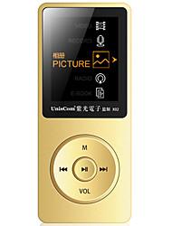 UnisCom MP3/MP4 MP3 WMA WAV FLAC APE OGG AAC Bateria Li-on Recarregável