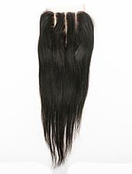 cheap -Very Fashionable 100% Human Hair  Virgin Hair Straight 4x4 Top Lace Closure