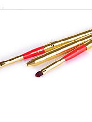3 Pincel para Lábios Pêlo Sintético Profissional Resina Lábios Outros