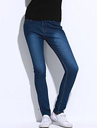 cheap -Women's Vintage Jeans Pants - Solid