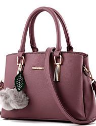 Donna Sacchetti Inverno Per tutte le stagioni PU (Poliuretano) Tote Borchie Pelliccia per Formale Fucsia Blu Rosa Vino Rosa scuro