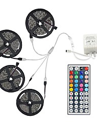 abordables -20m (4 * 5m) 5050 rgb 600 luces de tira flexibles de los LED no impermeabilizan la CC 12v 600leds con el kit teledirigido del regulador 44key