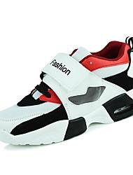economico -Da uomo scarpe da ginnastica Comoda PU (Poliuretano) Primavera Estate Autunno Inverno Casual Comoda Lacci Piatto Bianco Nero Rosso5 - 7