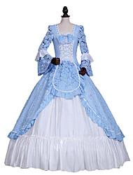 cheap -Princess Gothic Lolita Dress Classic Lolita Dress Rococo Elegant Victorian Lace Women's Dress Cosplay Floral Long Sleeve Long Length Halloween Costumes