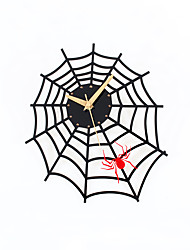 cheap -Modern Creative Spider Web Mute Wall Clock