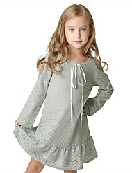 Girl's Going out Formal Solid Print Dress Spring Fall Long Sleeve