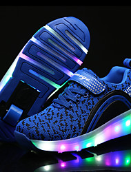 baratos -Para Meninas Sapatos Tule Primavera / Verão / Outono Conforto Tênis Esquí Cadarço / LED para Preto / Azul / Rosa claro
