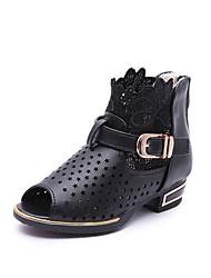 Недорогие -Девочки Сандалии Удобная обувь сутулятся сапоги Полиуретан Весна Осень Зима Повседневные Удобная обувь сутулятся сапоги На липучкахНа