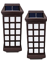 cheap -2PCS Retro Solar Fence Lights Solar Wall Lamps for Garden Decorative