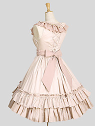 cheap -Sweet Lolita Dress Princess Women's Dress Cosplay Blue Pink Sleeveless Knee Length