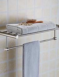 New Arrival Luxury Bathroom Accesseries High Quality Stainless Steel Bath Towel Shelves Towel Rack Towel Bar Bath Hardware