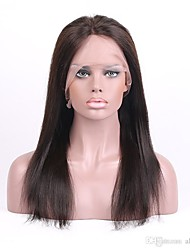 Grade 9A Brazilian Virgin Hair Full Lace Wig Straight Hair Natural Black Color Virgin Human Hair Lace Wig With Adjustable Strap Back