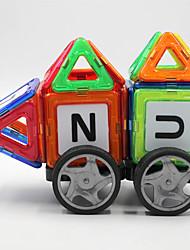 Magneti giocattolo 64 Pezzi MM Kit fai-da-te Magneti giocattolo Costruzioni Puzzle Blocchi magnetici Set di edifici magnetici Metallo Fai