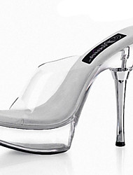 abordables -Femme-Mariage Habillé Soirée & Evénement-Blanc-Talon Aiguille-Confort Nouveauté A Bride Arrière-Sandales-PVC