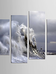 cheap -Still Life Abstract Landscape Modern Realism, Four Panels Canvas Any Shape Print Wall Decor Home Decoration