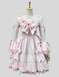 Недорогие -Принцесса Сладкое детство Кружево Жен. Платья Косплей Розовый С короткими рукавами До колена костюмы