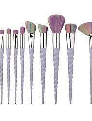 YZIMENG® 10pcs Unicorn Makeup Brushes Set Professional Blush/Eyeshadow/Lip/Eyebrow/Concealer/Powder Portable Synthetic Hair Make Up for Face