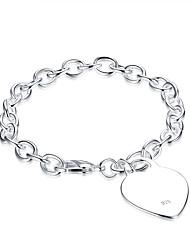 abordables -Bracelet Chaînes & Bracelets Zircon Cuivre Plaqué argent Anniversaire Quotidien Bijoux Cadeau Argent,1pc
