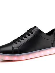 Herren Sneaker Komfort Leuchtende LED-Schuhe PU Sommer Herbst Normal Flacher Absatz Weiß Schwarz Rot Flach