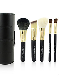 cheap -Make-up For You® 7pcs Makeup Brushes set Goat/Wool/Pony/Horse Hair  Limits bacteria/Portable Black Blush/Eyeshadow/Brow Brush Kit