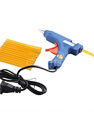 1Pcs 20W US Plug Mini-Electronic Glue Gun  12Pcs Keratin Fusion Hair Glue Sticks