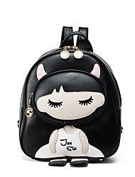 cheap -Women Bags PU Kids' Bag for Casual Winter All Seasons Black