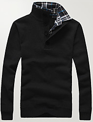 abordables -Homme Grandes Tailles Pullover - Couleur Pleine Mao