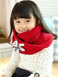 Mädchen Schals Winter Strickware Rot