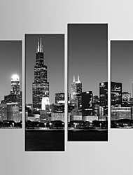 cheap -Famous Landscape Style Modern, Four Panels Canvas Any Shape Print Wall Decor Home Decoration