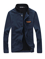 cheap -Men's Simple Casual Jacket-Solid Colored Stand