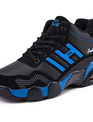 Sportssko-Tyl-Komfort-Herre-Blå Sort og Rød-Fritid-Flad hæl