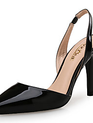 cheap -Women's Shoes Patent Leather Summer Fall Club Shoes Sandals Stiletto Heel Pointed Toe for Wedding Party & Evening Dress White Black Almond