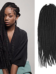 Senegal twist Braids Hair Extensions 20Inch Kanelkalon 35 Strands (Recommended By 3 Packs for a Full Head) Strand 98g gram Hår Braids