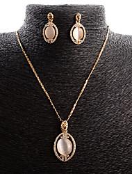 economico -Da donna Set di gioielli Opal sintetico Lusso Di tendenza Matrimonio Quotidiano Opale Lega goccia 1 collana 1 paio di orecchini