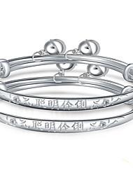 Bracciali Braccialetti Argento sterling Lettere dell'alfabeto Ispiratore Compleanno Gioielli Regalo Argento,1 paio