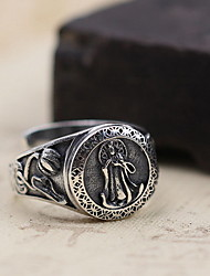 cheap -Men's / Women's Ring - Sterling Silver Open One Size Silver For Daily / Casual