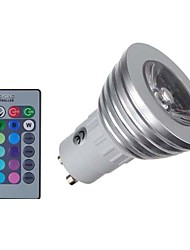 cheap -4W E14 GU10 GU5.3(MR16) GU5.3 LED Spotlight MR16 1 COB 400 lm RGB K Dimmable Remote-Controlled Decorative AC 85-265 V