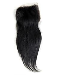 abordables -4x4 Fermeture Droit (Straight) Cheveux humains Fermeture Brun roux Dentelle Coréenne 30g gramme Petites Tailles Taille du Bonnet