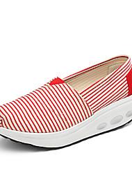 Damen-Loafers & Slip-Ons-Outddor Lässig Sportlich-Leinwand-KeilabsatzHellgrau Rot Rosa Marineblau Hellblau