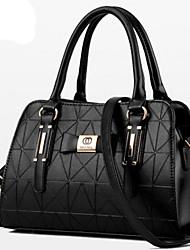cheap -Women's Bags PU(Polyurethane) Tote / Zipper Rivet Solid Colored Pink / Wine / Light Blue
