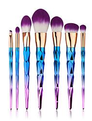 billige -7pcs Make-up pensler Professionel Brush Sets / Rougebørste / Øjenskyggebørste Syntetisk Hår Bærbar / Øko Venlig / Fuld Dækning Nylon