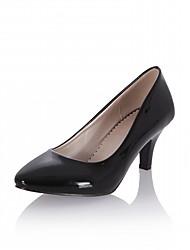 Feminino-Saltos-Conforto Inovador Chanel-Salto Sabrina-Branco Preto Laranja Bege Azul-Sintético Lona Courino Couro Ecológico-Casamento