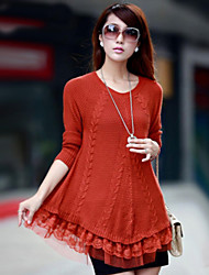 cheap -Women's Casual/Cute Inelastic Medium Long Sleeve Pullover (Knitwear)SF7E15