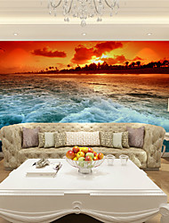 cheap -JAMMORY Art DecoWallpaper For Home Wall Covering Canvas Adhesive required Mural Sea Sunset Landscape XL XXL XXXL