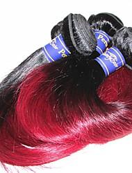 10a peru humano virgem cabelo humano tecendo seda reta mista comprimento 3pieces 300g venda de lote para uma cabeça de cor1b / 99j