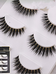 cheap -Eyelashes Full Strip Lashes Crisscross Natural Long Fiber Transparent Band