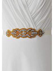 Bryllup Fest/aften Hverdag Ordensbånd With Bjergkrystal Perlearbejde
