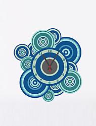 cheap -Modern Style Fashion Creative Blue Circle Wall Clock