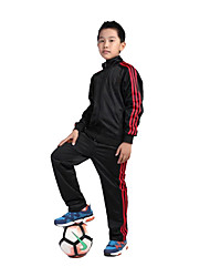 Kid's Soccer Clothing Sets/Suits Breathable Comfortable Spring Fall/Autumn Winter Solid Terylene Football/Soccer Red Black